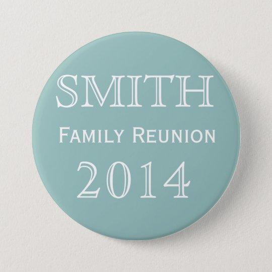 Customisable Family Reunion Blue 7.5 Cm Round Badge