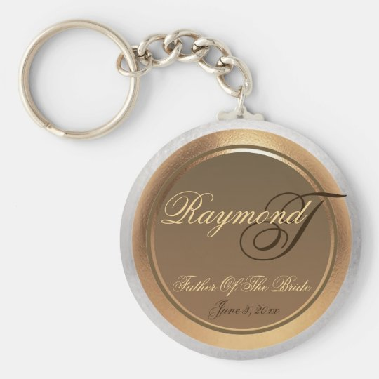 Customisable Father Of The Bride Keepsake Keychain