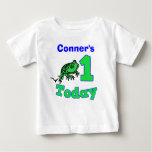 Customisable First Birthday Boy Froggy Shirt