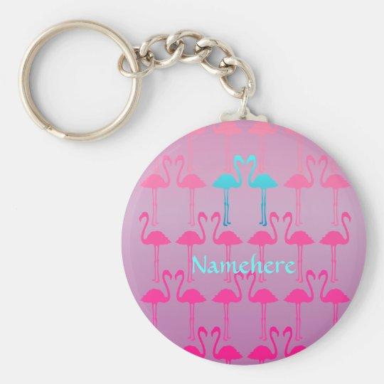 Customisable: Flamingo two Key Ring