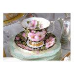 Customisable Floral Teacup Business Card