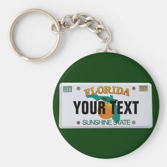 (Customisable) Florida License Plate Key Ring