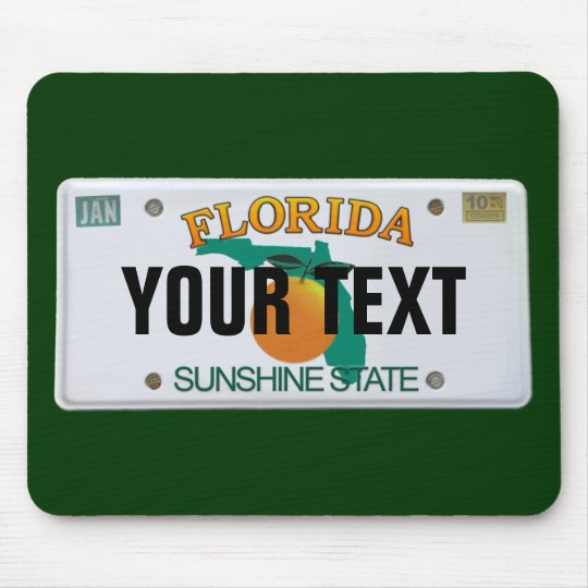 (Customisable) Florida License Plate Mouse Mat