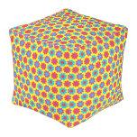 Customisable Flower Power Cube Pouffe