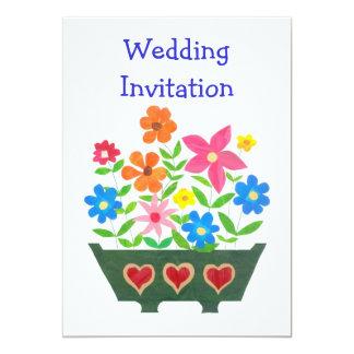 Customisable Flower Power Wedding Invitation