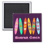 Customisable Flowered Surfboards Magnets