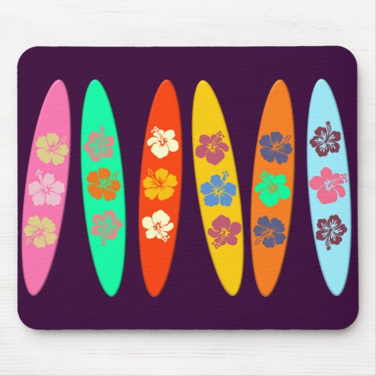 Customisable Flowered Surfboards Mouse Mat