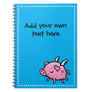 Customisable Flying Pig Notebook