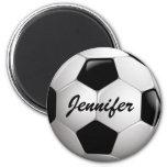 Customisable Football Soccer Ball 6 Cm Round Magnet