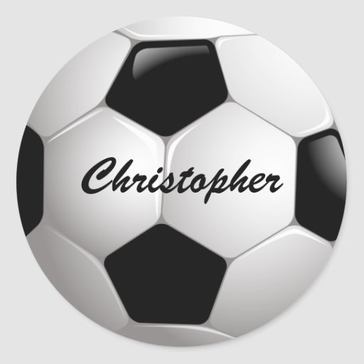 Customisable Football Soccer Ball Round Sticker
