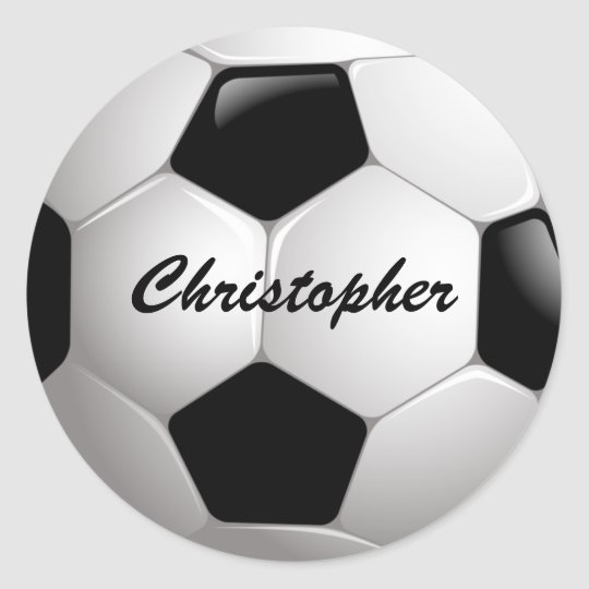 Customisable Football Soccer Ball Round Sticker