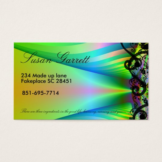 customisable fractal business card