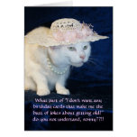 Customisable Funny Cat Birthday for Older Woman Greeting Card