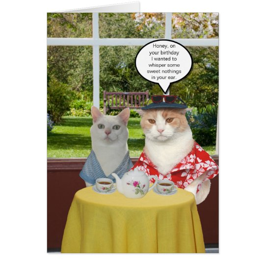 Customisable Funny Cat Birthday for Wife Card