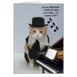 Customisable Funny Cat Greeting Card