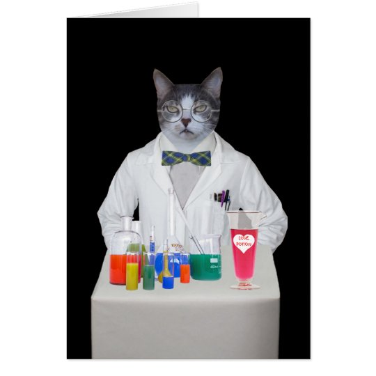 Customisable Funny Cat/Kitty DR. LOVE Card