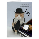 Customisable Funny Cat Note Card