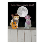 Customisable Funny Cats Anniversary Cards