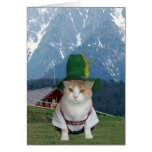 Customisable Funny German Cat Greeting Card
