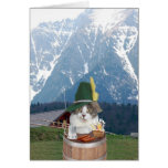 Customisable Funny German Cat/Kitty Greeting Card