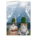 Customisable Funny German Cats/Kitties Greeting Card