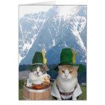 Customisable Funny German Cats/Kitties Greeting Card