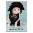 Customisable Funny Pirate Cat Card
