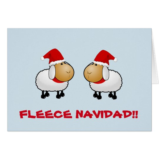 Customisable funny Sheep Christmas card