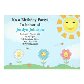 Customisable Garden Birthday Party Invitation