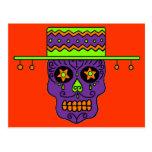 Customisable Gaucho Sugar Skull Postcard