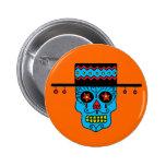 Customisable Gaucho Sugar Skulls Pin