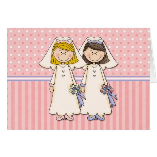 Customisable Gay Women Wedding Cards (8)