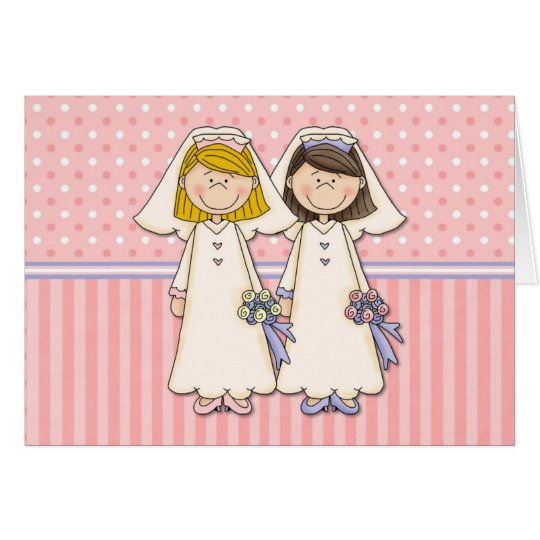 Customisable Gay Women Wedding Cards (8)