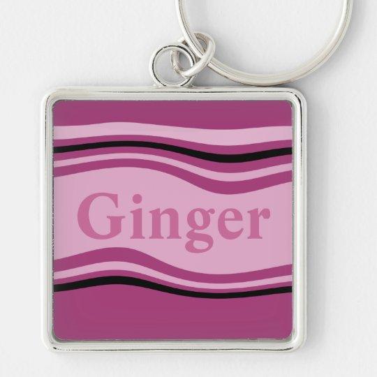 Customisable Ginger Key Ring
