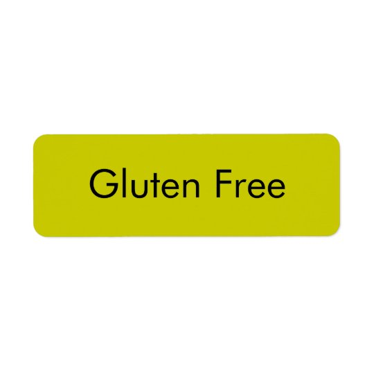 Customisable GLUTEN FREE Bakery Labels