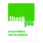 Customisable Green - Thank you  - Graduation