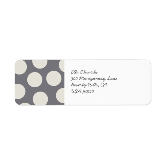 Customisable Grey Grey Dots Return Address Label