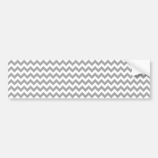 Customisable Grey Zigzag Pattern Bumper Sticker