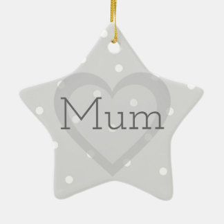 Customisable Grieving Quote Star Ornament