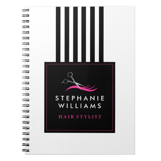 Customisable Hair Stylist Note Book