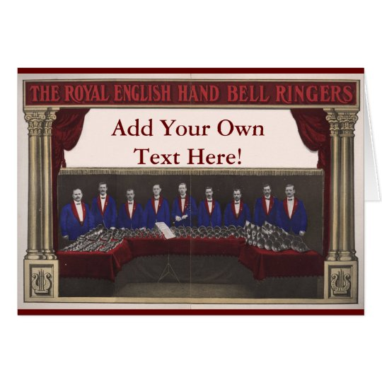 Customisable Hand Bell Greeting Card