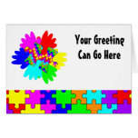 Customisable Hands And Puzzling Puzzle Piece Greeting Card