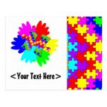 Customisable Hands And Puzzling Puzzle Piece Postcard