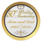 Customisable Happy 5oth Anniversary Mum & Dad Plate