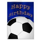 Customisable Happy Birthday Soccer Cards