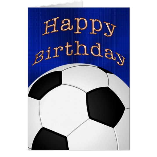 Customisable Happy Birthday Soccer Cards