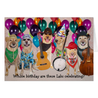 Customisable Happy Lab Birthday Greeting Card