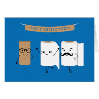 Customisable Happy Retirement Toilet Paper Card