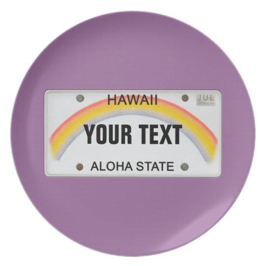 (Customisable) Hawaii License Plate