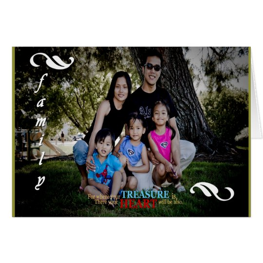 Customisable Holiday Family Photo Greeting Card